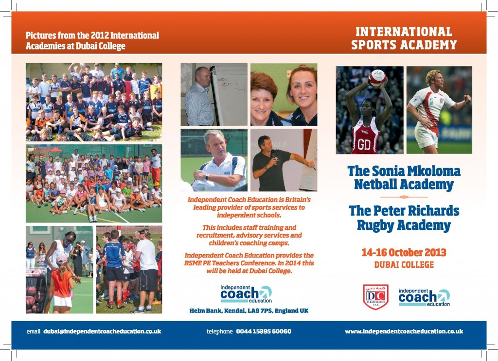 International Sports Academy 2013 Flyer-page-001