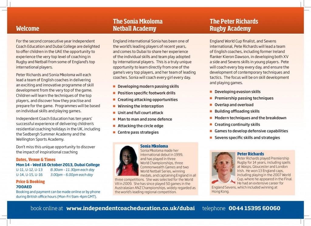 International Sports Academy 2013 Flyer-page-002