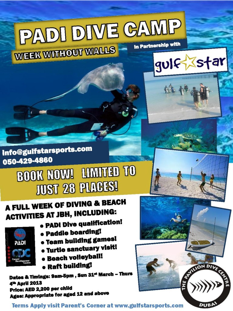PADI Dive Centre - WWW camp 2013 - Flyer vFinal-page-001