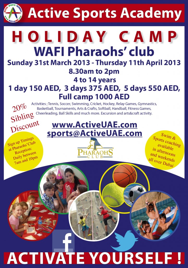 WAFI Spring 2013 Activity Camp Flyer