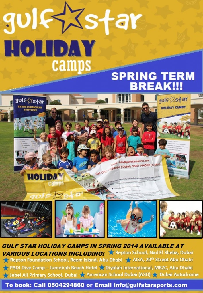 Easter camp poster Dubai and AD