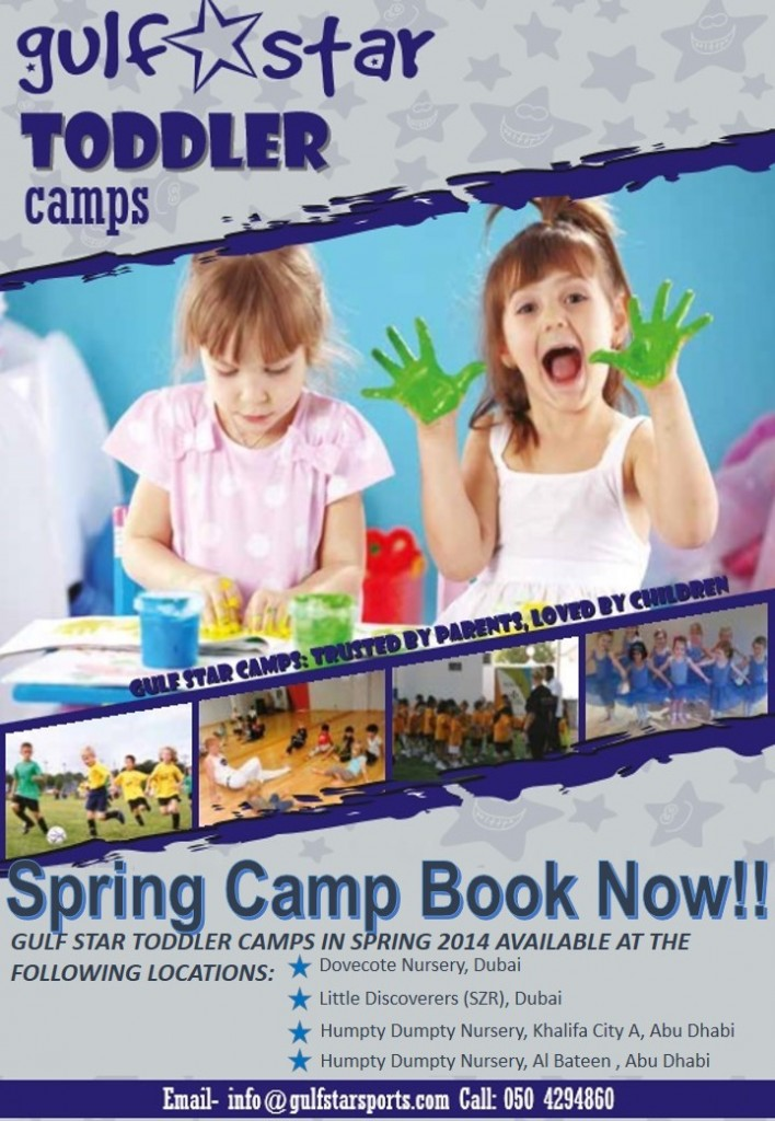 Easter toddler camp poster Dubai and AD