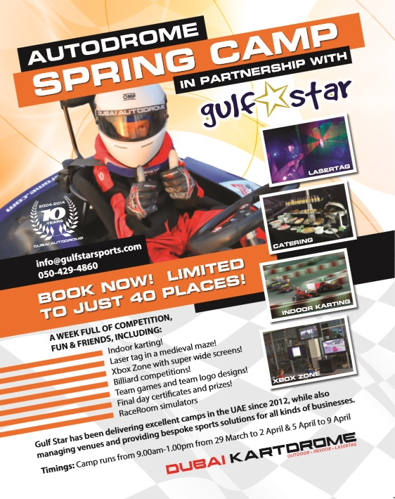 Autodrome Spring Camps Poster
