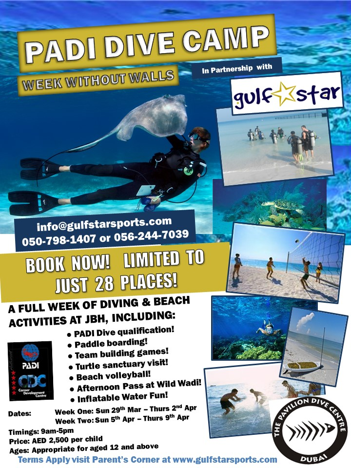 PADI Dive Centre - WWW camp 2015 - Flyer vSpring