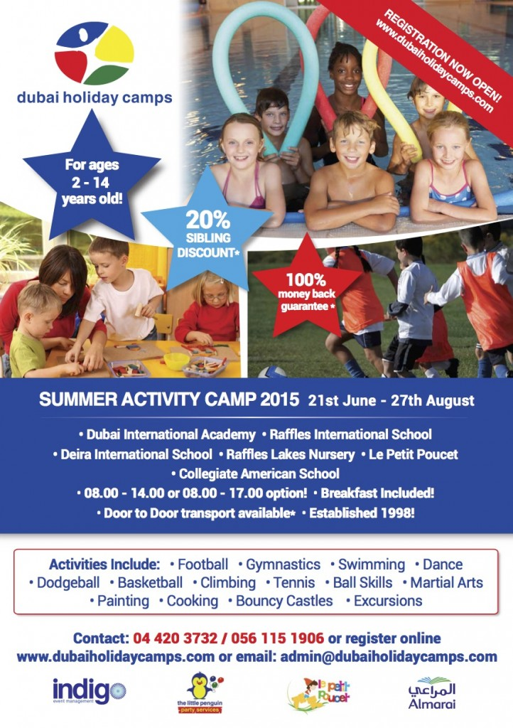 Advert 2015 Small dubai holiday camps