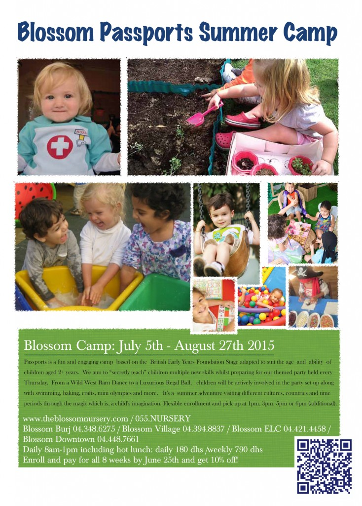 Blossom 2015 Summer Camp front