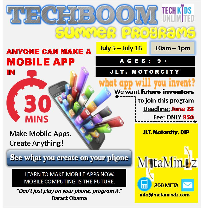 Tech boom JULY 5 CAMP